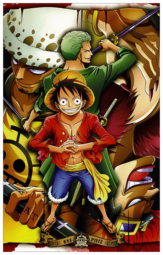 Неформатный постер One Piece / Ван-Пис / Ван Пис / Wanpiisu / ワンピース